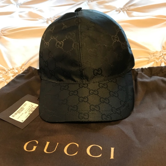 New Gucci Guccissima Web Hat Black Medium cb1f3c4e1dd